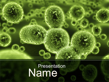 Technology and Science: Growth Of Virus PowerPoint Template #09888