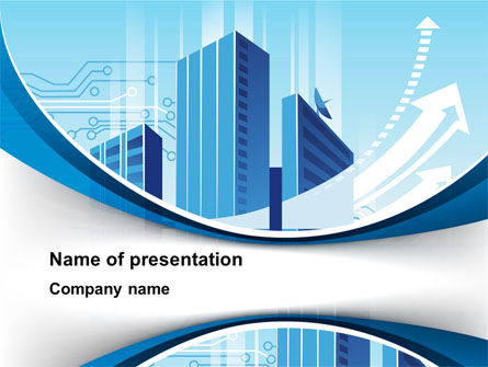 Blue Cities Of The Future PowerPoint Template