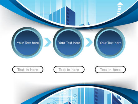Blue Cities Of The Future PowerPoint Template Slide 5