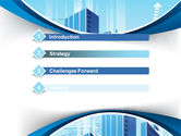 Blue Cities Of The Future PowerPoint Template#3