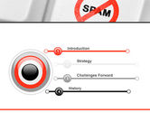 Anti Spam Defense PowerPoint Template#3