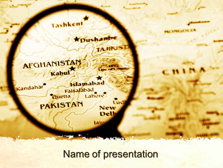 Map Of Afghanistan PowerPoint Template, 09892, Flags/International — PoweredTemplate.com