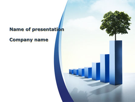 Growing Histogram PowerPoint Template