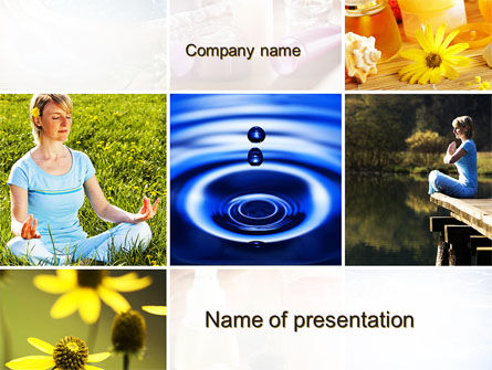 Health and Recreation: Outdoor Meditation PowerPoint Template #09894