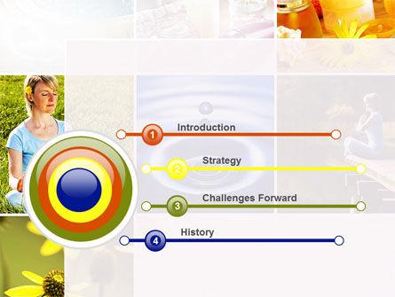 Outdoor Meditation PowerPoint Template, Slide 3, 09894, Health and Recreation — PoweredTemplate.com