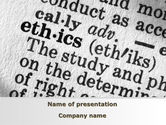 Education & Training: Ethics PowerPoint Template #09895
