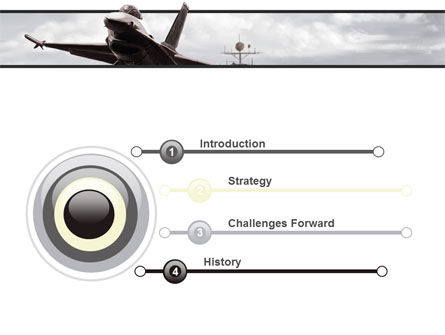 General Dynamics F-16 Fighting Falcon Starting With The Carrier PowerPoint Template Slide 3