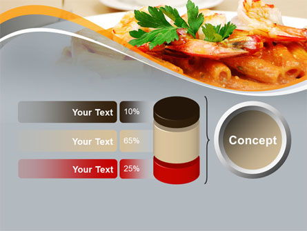 Pasta With Shrimps PowerPoint Template Slide 11