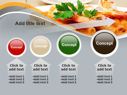 Pasta With Shrimps PowerPoint Template Slide 13
