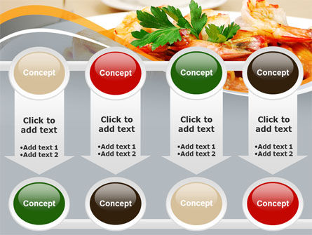 Pasta With Shrimps PowerPoint Template Slide 18