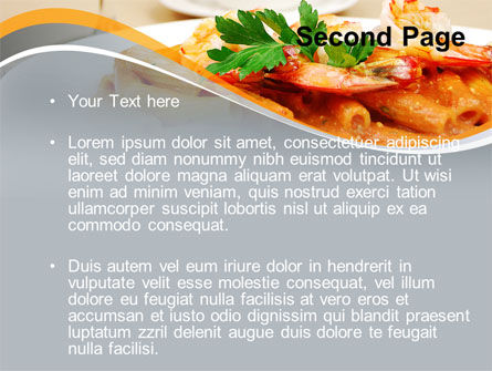 Pasta With Shrimps PowerPoint Template Slide 2