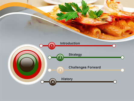 Pasta With Shrimps PowerPoint Template Slide 3