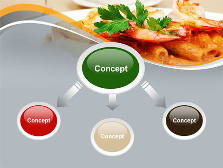 Pasta With Shrimps PowerPoint Template Slide 4