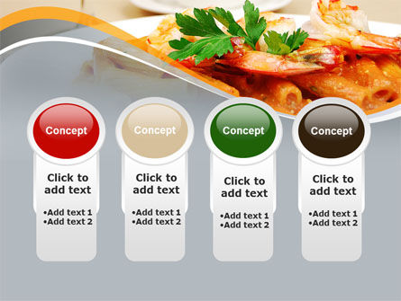 Pasta With Shrimps PowerPoint Template Slide 5
