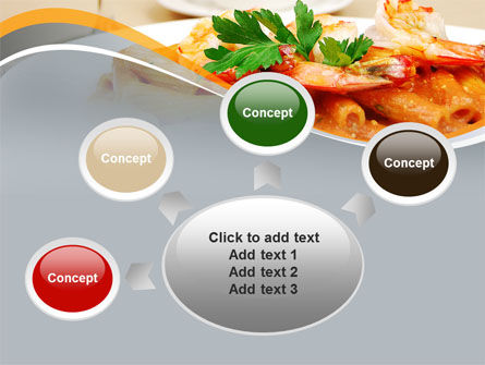 Pasta With Shrimps PowerPoint Template Slide 7