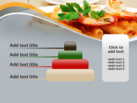 Pasta With Shrimps PowerPoint Template Slide 8