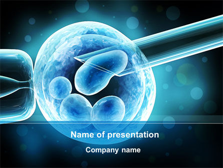 Medical: Artificial Fertilization PowerPoint Template #09900