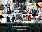 People: Business Theme Collage PowerPoint Template #09901