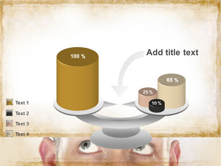 Man Looks Up PowerPoint Template Slide 10