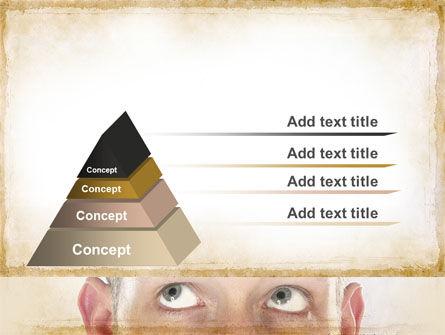 Man Looks Up PowerPoint Template Slide 12