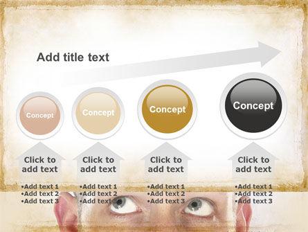 Man Looks Up PowerPoint Template Slide 13