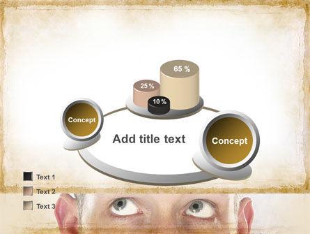 Man Looks Up PowerPoint Template Slide 16