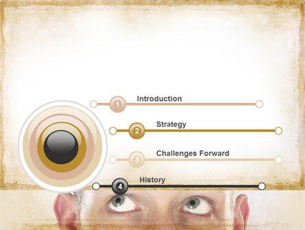 Man Looks Up PowerPoint Template, Slide 3, 09902, Business Concepts — PoweredTemplate.com