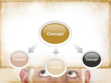 Man Looks Up PowerPoint Template, Slide 4, 09902, Business Concepts — PoweredTemplate.com
