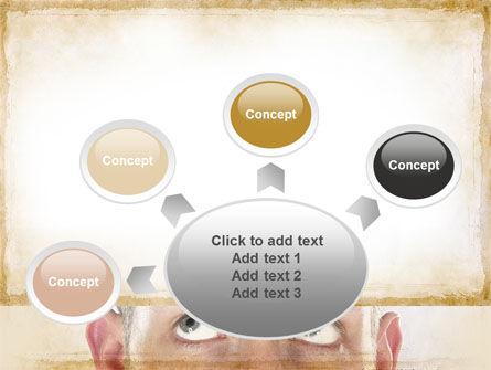 Man Looks Up PowerPoint Template Slide 7