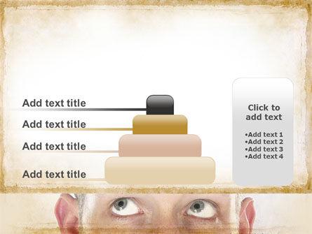 Man Looks Up PowerPoint Template Slide 8
