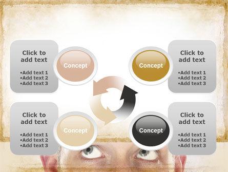 Man Looks Up PowerPoint Template Slide 9