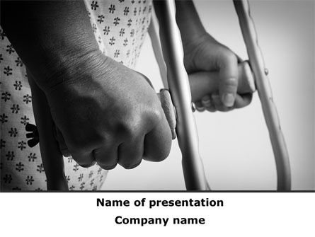 Medical: Crutches PowerPoint Template #09904