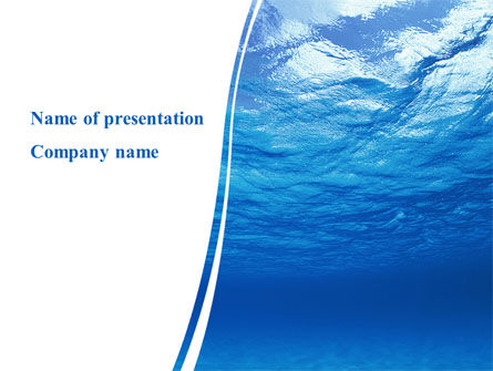 Picture Taken Under Water PowerPoint Template, 09905, Nature & Environment — PoweredTemplate.com
