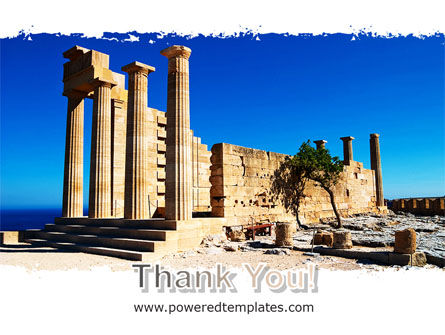 Ruins Of Ancient Greek Temple PowerPoint Template Slide 20