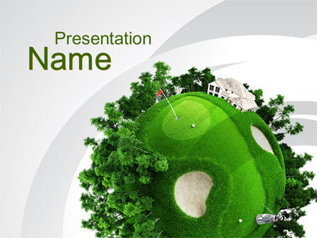 Planet Golf PowerPoint Template, 09910, Sports — PoweredTemplate.com
