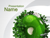 Sports: Planet Golf PowerPoint Template #09910
