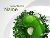 Sports: プラネットゴルフ - PowerPointテンプレート #09910
