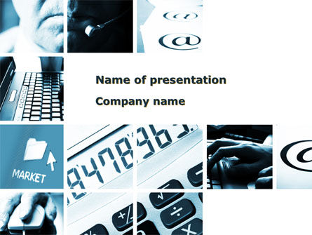 Market Calculation Collage PowerPoint Template, 09911, Financial/Accounting — PoweredTemplate.com