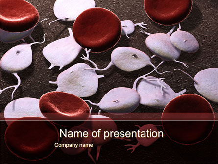 Red And White Blood Cells PowerPoint Template, 09912, Medical — PoweredTemplate.com