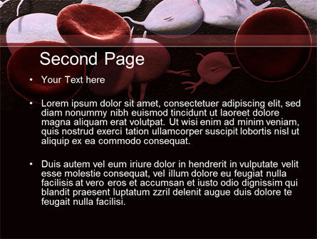 Red And White Blood Cells PowerPoint Template, Slide 2, 09912, Medical — PoweredTemplate.com