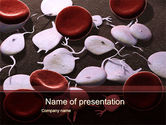 Medical: Red And White Blood Cells PowerPoint Template #09912