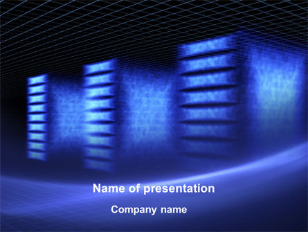 Technology and Science: Raid Array PowerPoint Template #09913