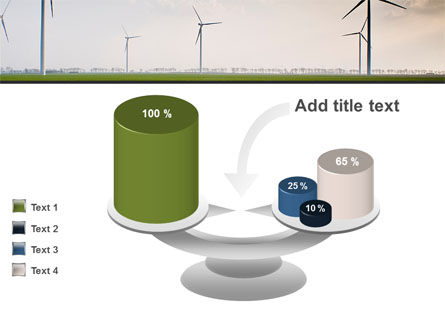 Wind Energy Windmills On Field PowerPoint Template Slide 10