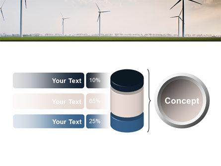Wind Energy Windmills On Field PowerPoint Template Slide 11