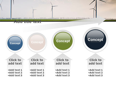 Wind Energy Windmills On Field PowerPoint Template Slide 13