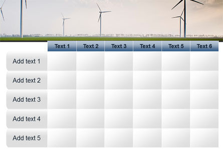 Wind Energy Windmills On Field PowerPoint Template Slide 15