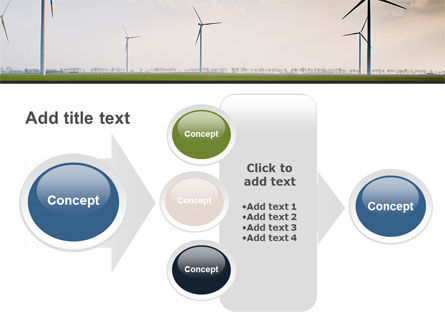 Wind Energy Windmills On Field PowerPoint Template Slide 17
