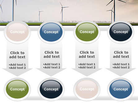 Wind Energy Windmills On Field PowerPoint Template Slide 18