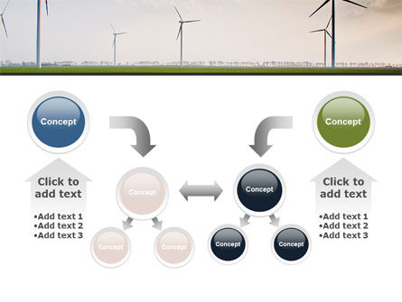 Wind Energy Windmills On Field PowerPoint Template Slide 19