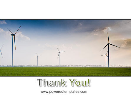 Wind Energy Windmills On Field PowerPoint Template Slide 20